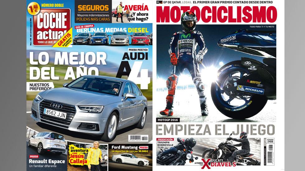 Las revistas COCHE ACTUAL y MOTOCICLISMO, líderes de audiencia según EGM