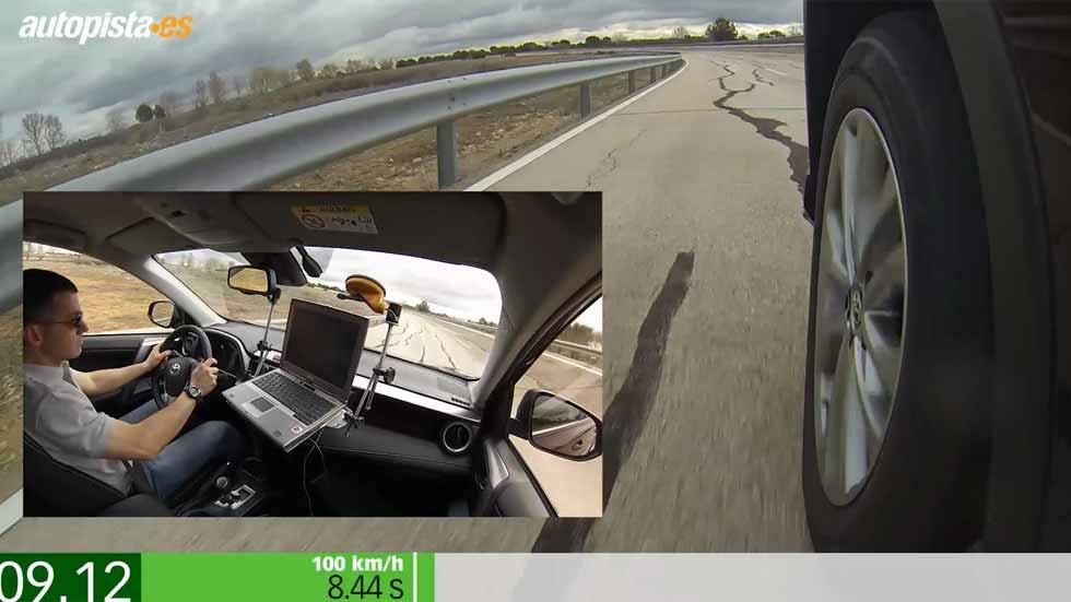 Toyota RAV4 hybrid AWD: aceleración y frenada (vídeo)