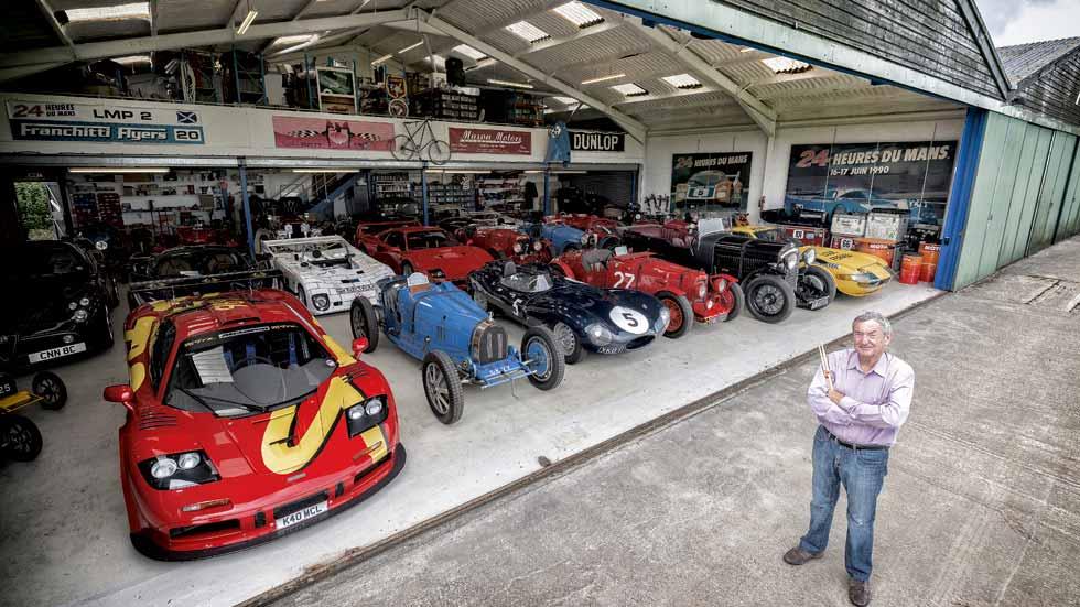 La colección de coches de Nick Mason, el batería de Pink Floyd