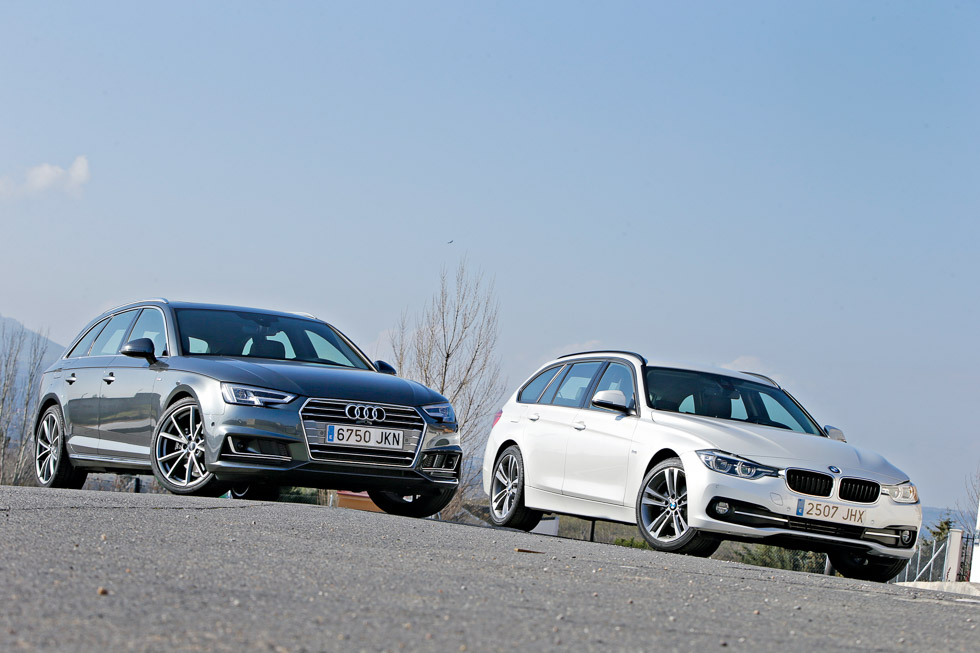 Audi A4 Avant 2.0 TDI vs BMW 318d Touring, lección familiar