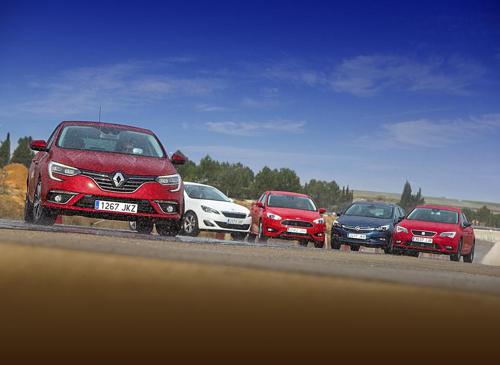 Renault Mégane vs Ford Focus, Peugeot 308, Opel Astra y Seat León