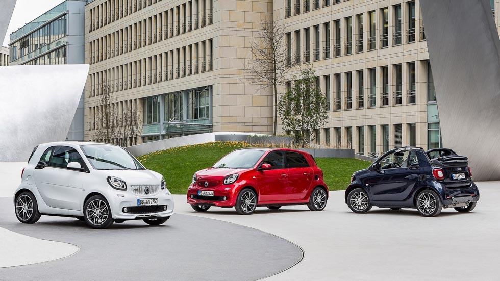 Smart Brabus Fortwo, Forfour y Cabrio: los más rabiosos y deportivos