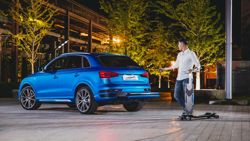 Audi connected mobility: con patinete eléctrico para huir de los atascos