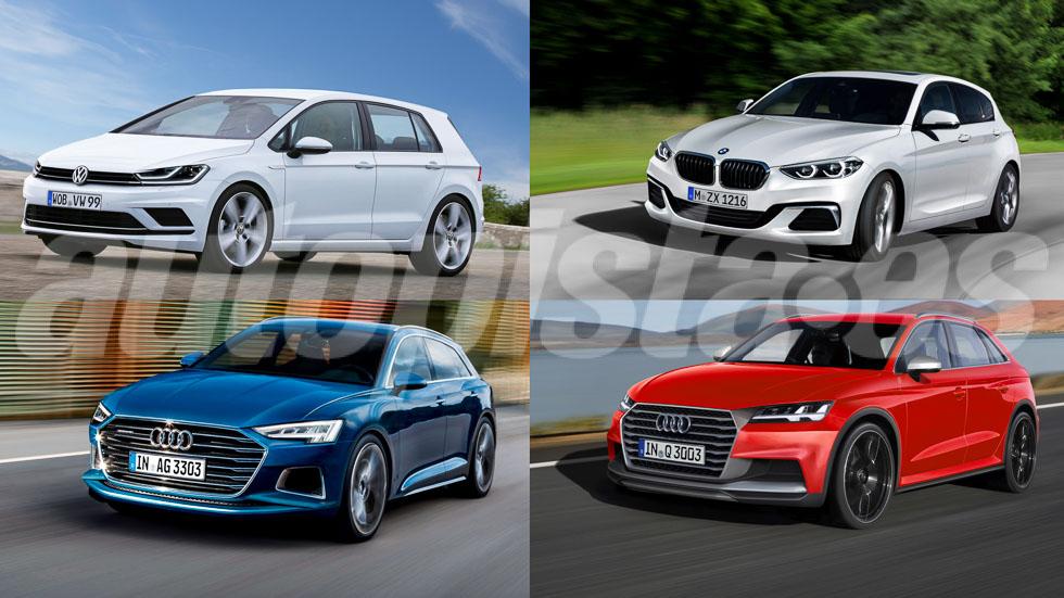 Los futuros coches compactos de Audi, BMW y Volkswagen