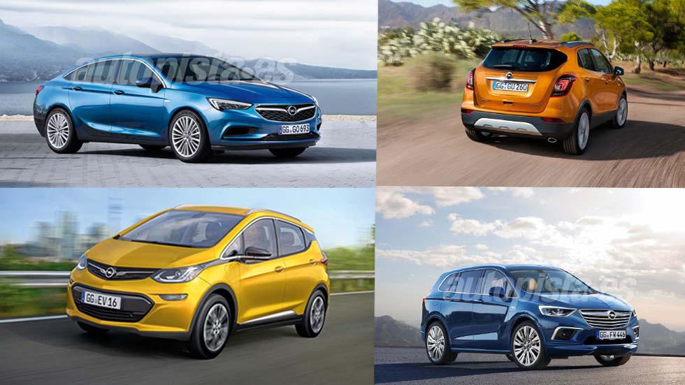 Los nuevos Opel que llegarán hasta 2018