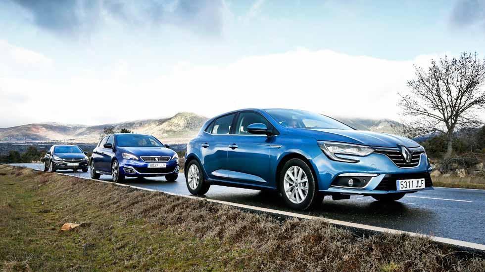 Renault Mégane, Opel Astra y Peugeot 308: lucha anti Diesel