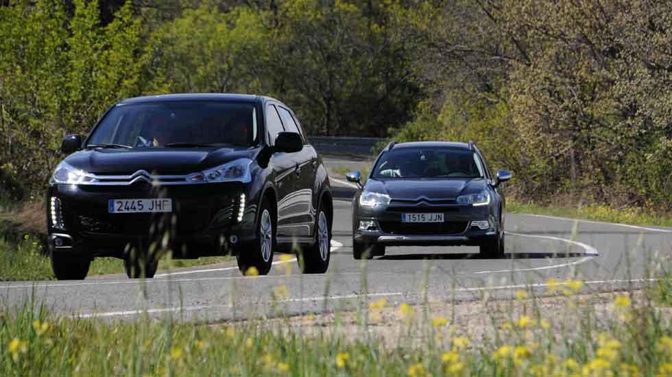 Los Citroën C4 Aircross y un C5 Tourer XTR, de rodaje con 'Al filo de lo imposible'