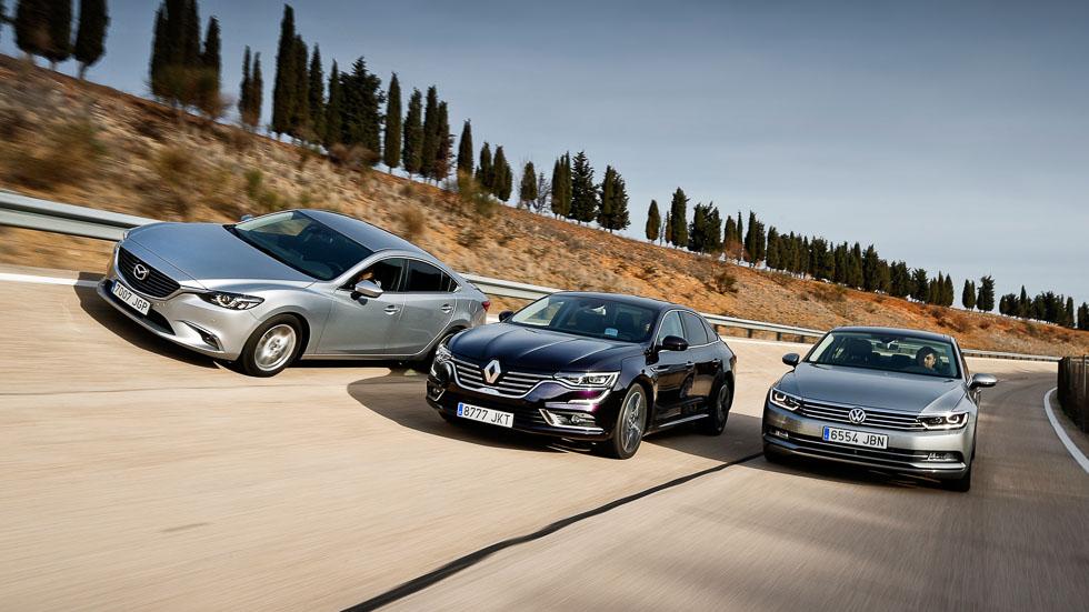 Mazda 6, Renault Talisman y VW Passat: buscamos la mejor berlina