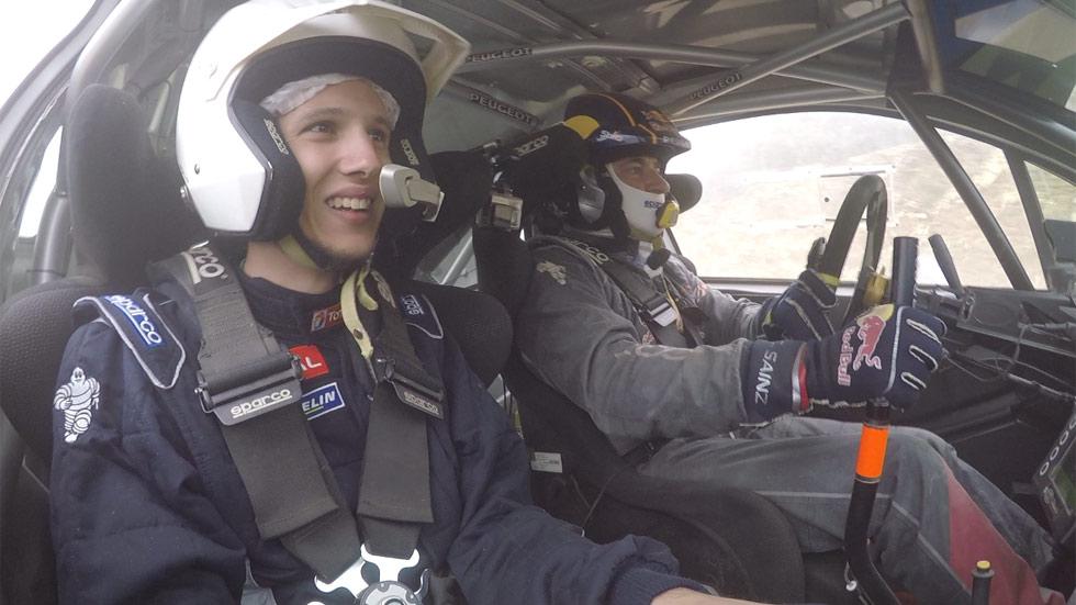 Copilotamos a Carlos Sainz en un Peugeot 208 T16 R5 (vídeo)