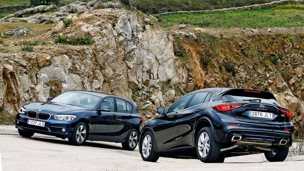 BMW 116d ED vs Infiniti Q30 1.5d: un lujo de compactos