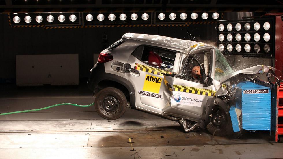 Cinco coches, con 0 estrellas de seguridad en pruebas de choque