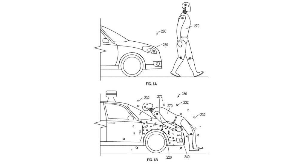 Google patenta un capó pegajoso para proteger a los peatones