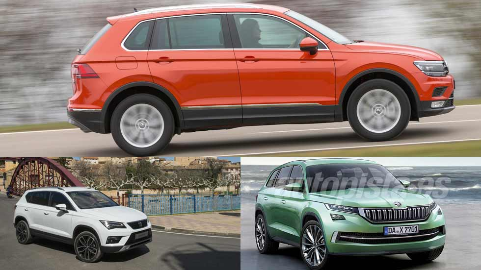 seat ateca skoda kodiaq y vw tiguan los suv m s esperados. Black Bedroom Furniture Sets. Home Design Ideas