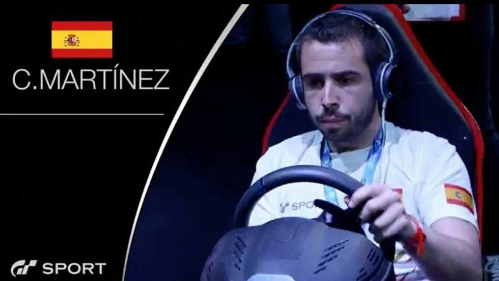 Carlos Martínez, campeón de la Manufacturers' Fan Cup Gran Turismo Sport 2016