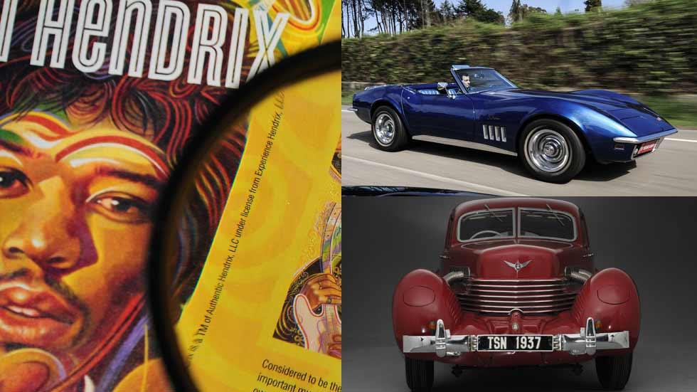 Los coches de las estrellas del rock: Morrison, Hendrix, Richards...
