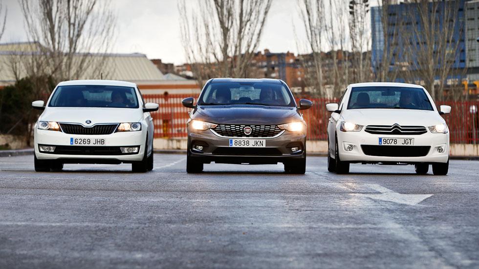 Citroën C-Elysée, Fiat Tipo y Skoda Rapid: buenos, baratos y...