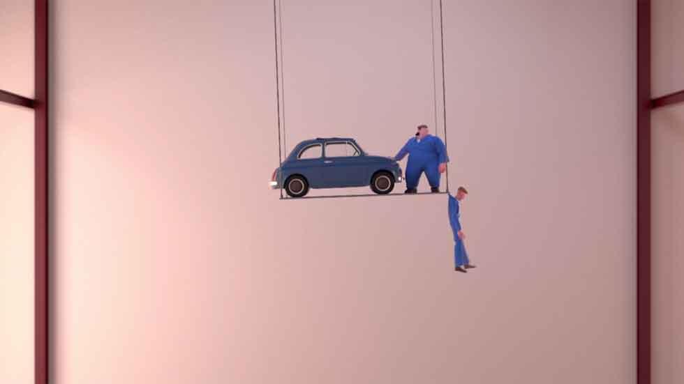 ¿Problemas al reparar un viejo Fiat 500? (video animado)