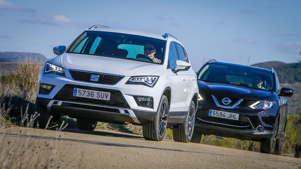 Seat Ateca vs Nissan Qashqai: ¿cuál es el mejor SUV compacto?