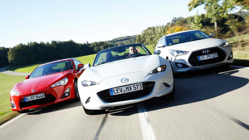 Mazda MX-5, Hyundai Veloster y Toyota GT86: diversión a bajo precio
