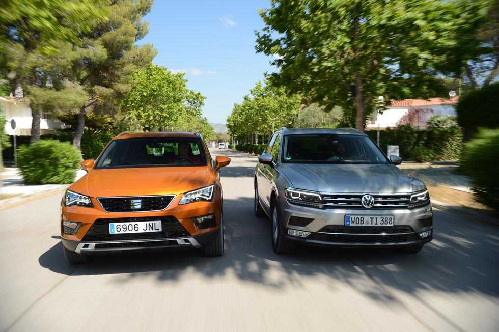 seat ateca vs vw tiguan duelo entre los suv de moda. Black Bedroom Furniture Sets. Home Design Ideas