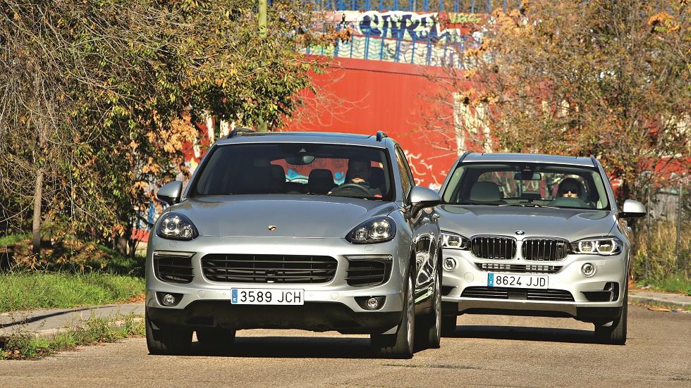 BMW X5 xDrive40e vs. Porsche Cayenne S E-Hybrid: dos SUV enchufados