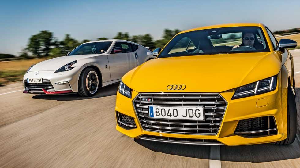 """Audi TT S vs Nissan 370Z Nismo: muy deportivos y """"bastante"""" asequibles"""