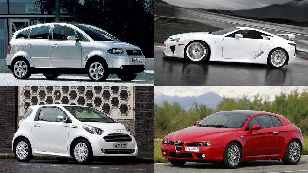 10 coches que estuvieron muy poco tiempo en nuestro mercado