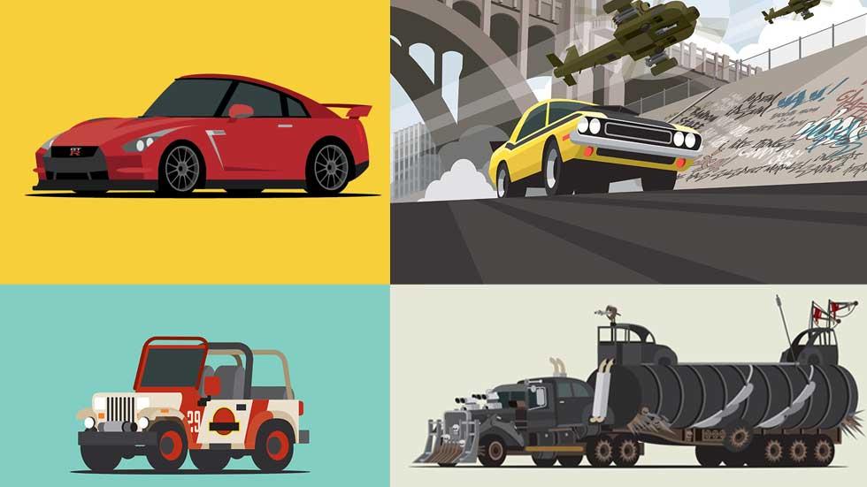 Star Car, dibujos de coches populares y de películas