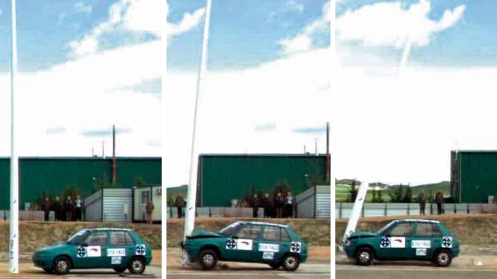 Columnas de iluminación frangibles: seguridad pasiva para los conductores