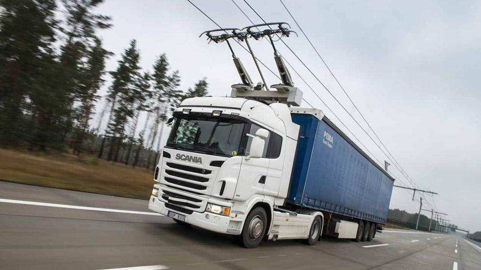 Vías rápidas electrificadas en Suecia para camiones