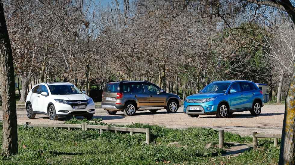 Comparativa: Suzuki Vitara, Honda HR-V y Skoda Yeti, ¿cuál gana?