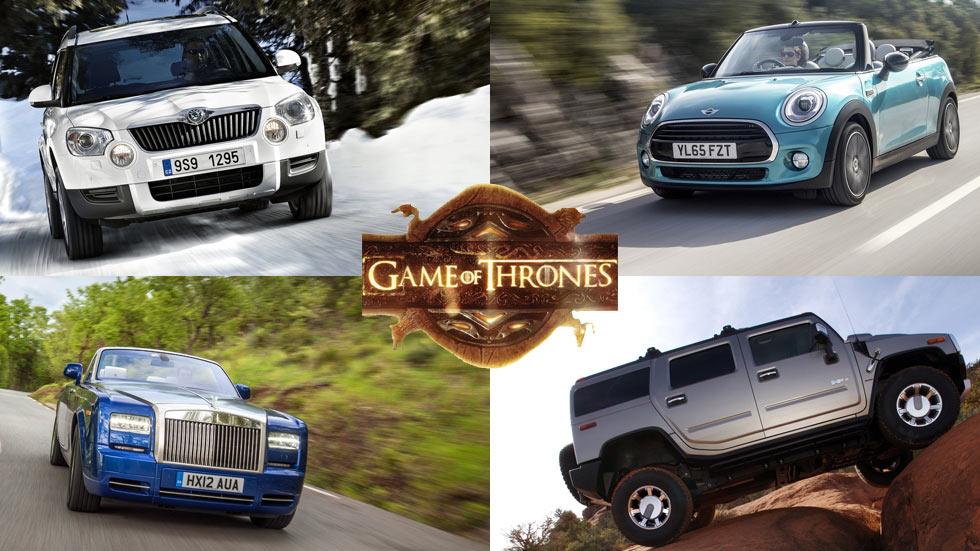 Los coches de los protagonistas de Juego de Tronos