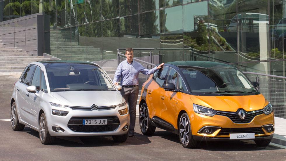 Renault Scénic vs Citroën C4 Picasso: el duelo familiar del año