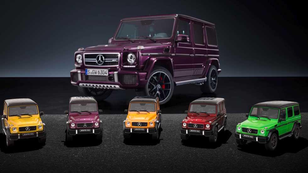 Mercedes-Benz G63 AMG, 5 colores distintos que caben en tu estantería