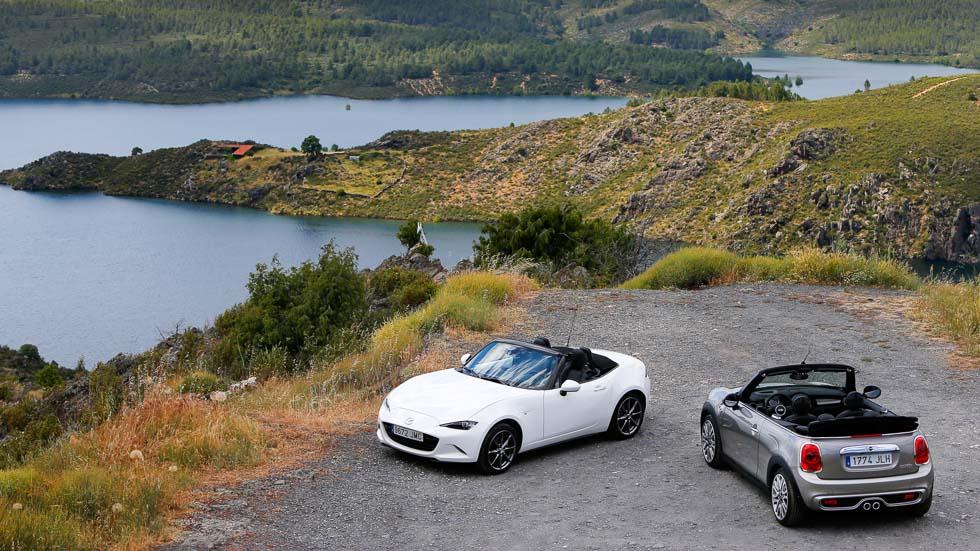 Mazda MX-5 2.0 vs Mini Cabrio Cooper S: cabrios de lo más divertidos