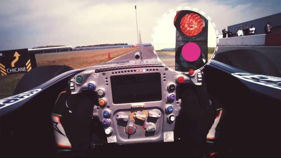 ¿Dónde miran los ojos de un piloto de Fórmula 1? (vídeo)