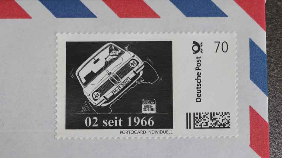 El BMW 2002 celebra su 50 aniversario con unos sellos muy especiales