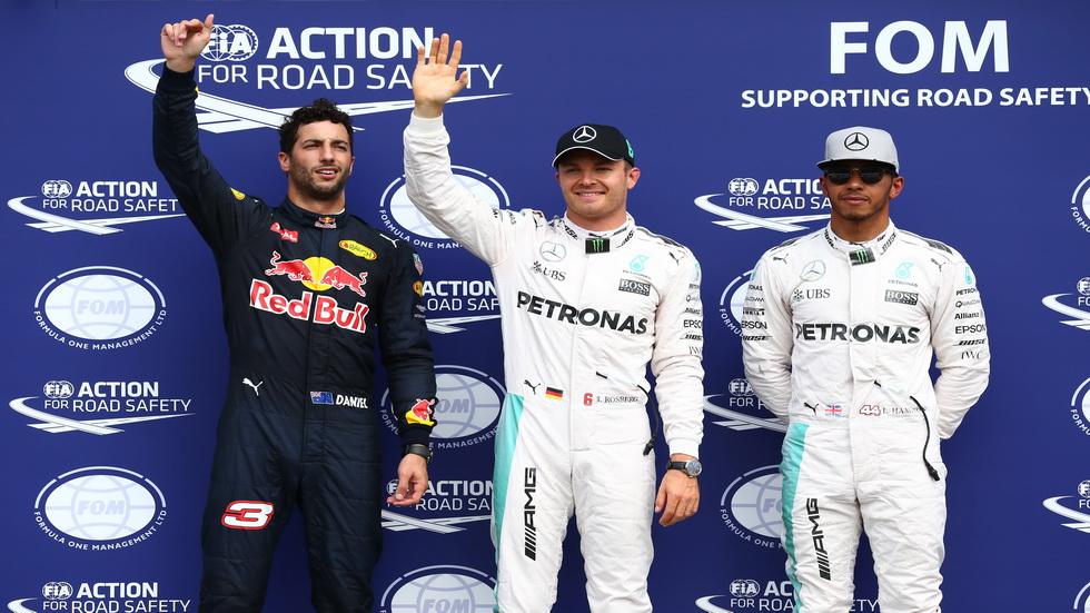 Gran Premio de Alemania: Parrilla de salida