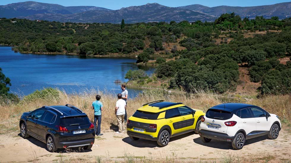 Citroën C4 Cactus, Renault Captur y Peugeot 2008, ¿cuál es mejor?