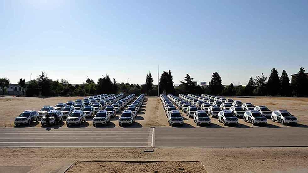 La Guardia Civil invierte más de 3 millones de euros en 110 nuevos coches