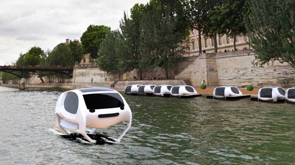 """Seabubble, el """"coche"""" que circula sobre el agua"""