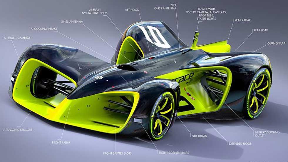 Roborace, más detalles de las carreras con coches autónomos