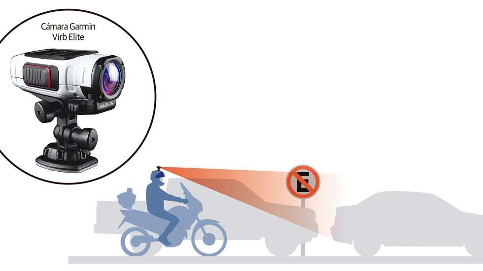 Cámaras en los cascos de moto de la policía para multar