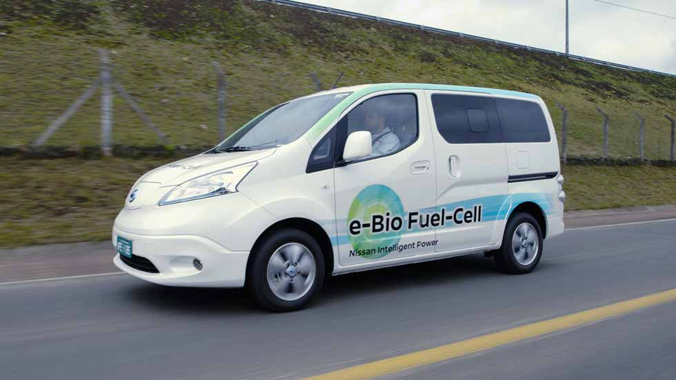 Nissan e-NV200 con pila de combustible de bioetanol: 600 km de autonomía