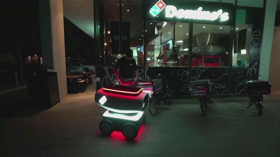 Un vehículo autónomo te llevará la pizza a casa (vídeo)
