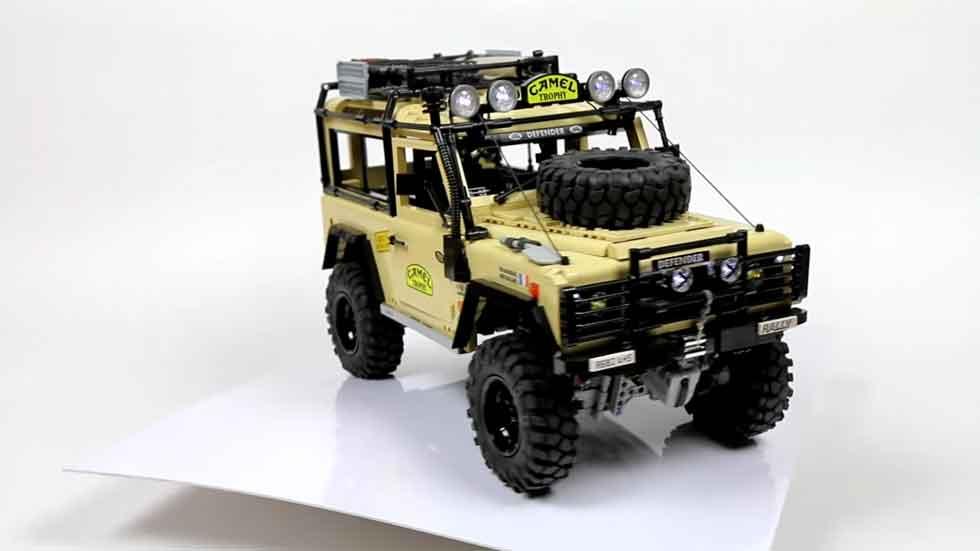 Lego desarrolla un Defender con tracción total (vídeo)