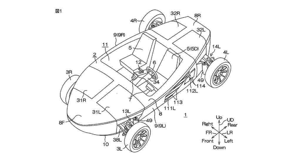 Yamaha patenta un coche anfibio (fotos)