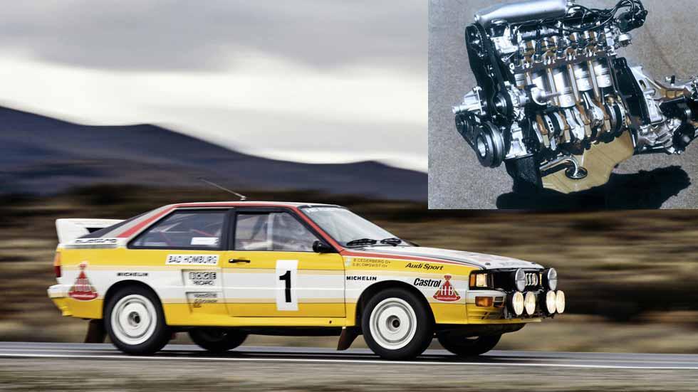 40 años del motor de 5 cilindros de Audi: fotos y datos