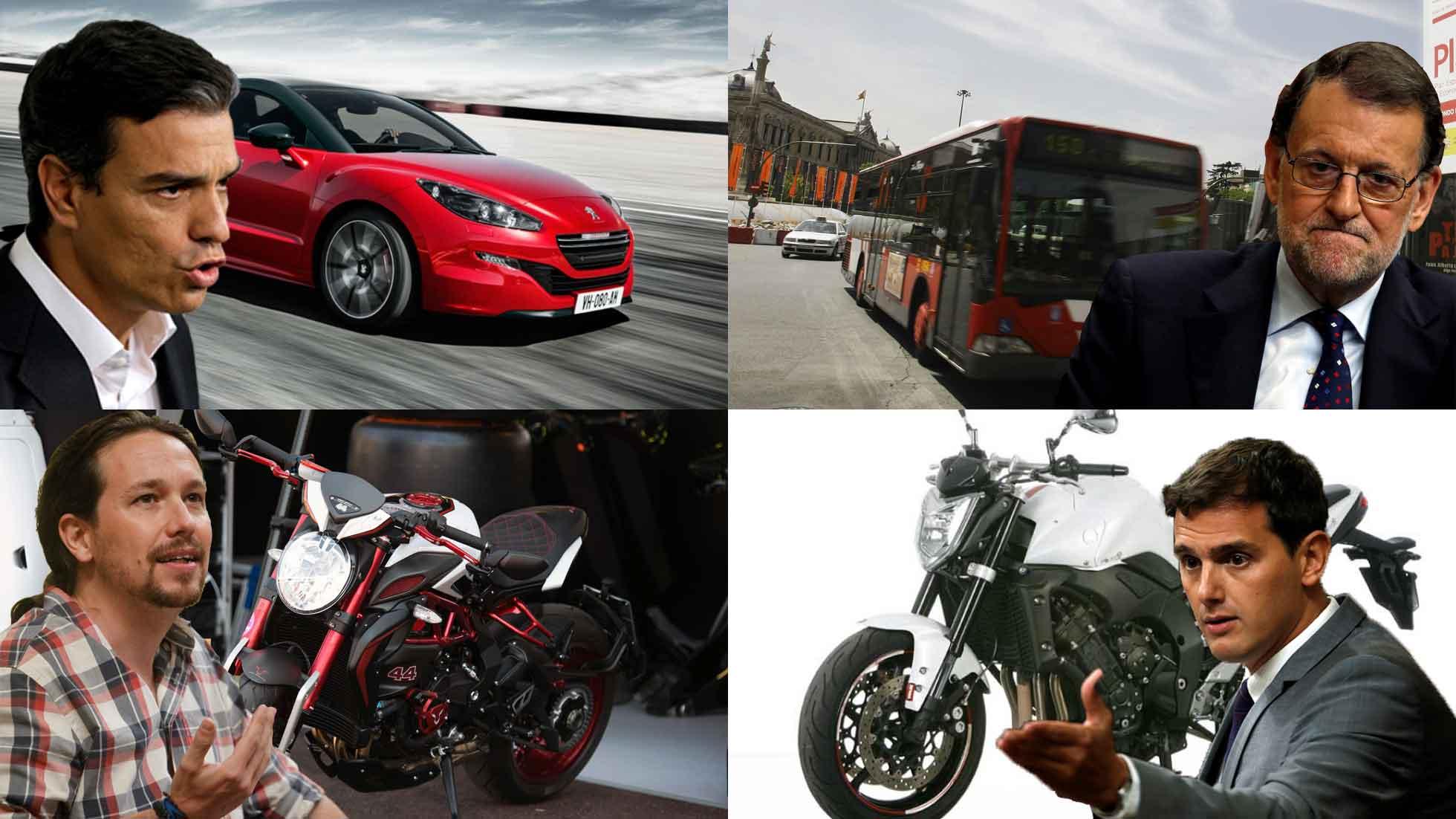 Los coches que declaran los Diputados en España