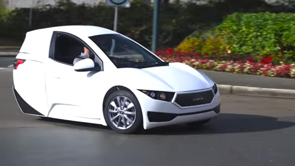 SOLO: el coche eléctrico de 3 ruedas (vídeo)